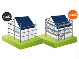 足場は、塗装品質 安全管理のためにとても重要!