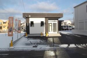 岐阜市 ㈱南部建装 社屋のアスファルト引き完了