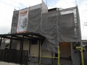 岐阜市 A様邸 外壁塗装工事 着工
