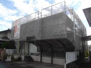各務原市 M様邸 屋根・外壁塗装工事 着工