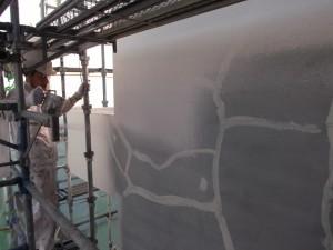 下地補修からの塗装(下塗り)