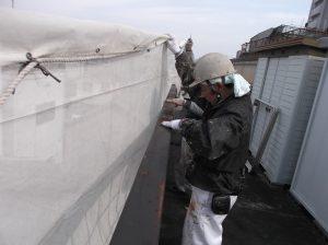 岐阜㈱南部建装 屋上の手摺 塗替え