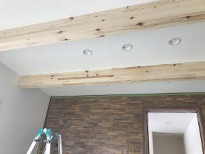 内部 木部保護塗料の塗装(・_・)