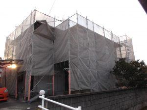 今年最初の仕事になります。着工♪岐阜市外壁 塗替え
