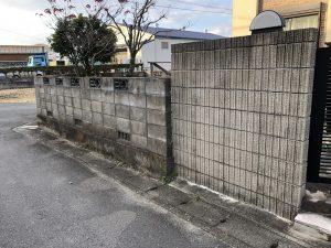 笠松町でのブロック塀撤去(補助金制度有)