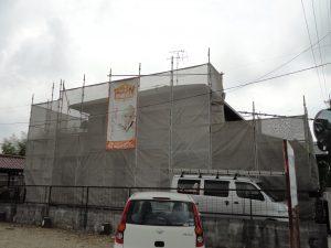各務原市での屋根塗装・外壁塗装工事着工♪