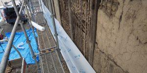 外壁工事   トタンの下地作り