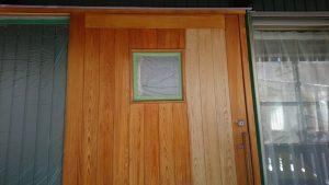 玄関建具塗り替え❗