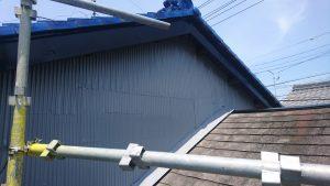 屋根上トタン塗装